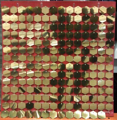 Sequin Wall Panels Red and Gold (1m x 1m)*