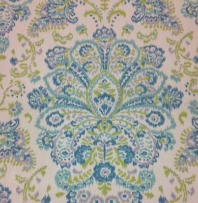 "MAGNOLIA About PROVENCE OCEAN FLORAL CURTAIN FURNITURE FABRIC BY THE YARD 54""W"