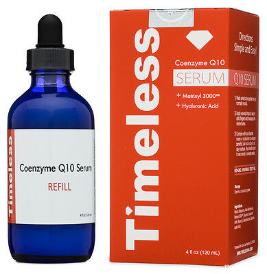 New In Box  Timeless Coenzyme Q10 Hyaluronic Acid Serum 4Oz Refill
