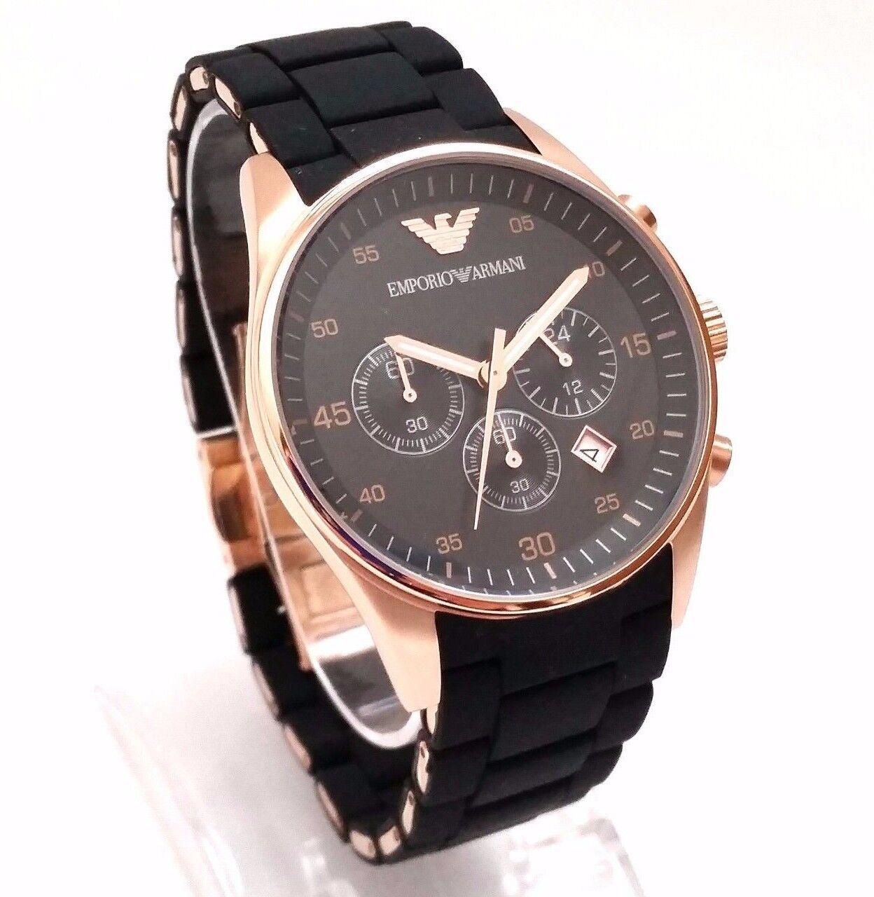 emporio armani sportivo watch chronograph ar5905 готовитесь вечернему выходу