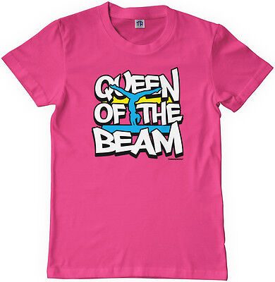 Threadrock Girls Queen of the Beam Youth T-shirt Gymnast Gymnastics - Gymnastics Youth T-shirt