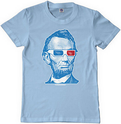 Threadrock Kids Abraham Lincoln 3D Glasses Youth T-shirt USA President - Abraham Lincoln Kids