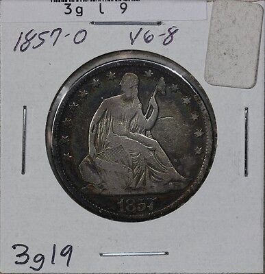 1857-O SEATED HALF DOLLAR  VG 3GL9