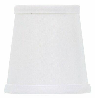 UpgradeLights White 4 Inch Set of 2 Drum Chandelier Lamp Sha