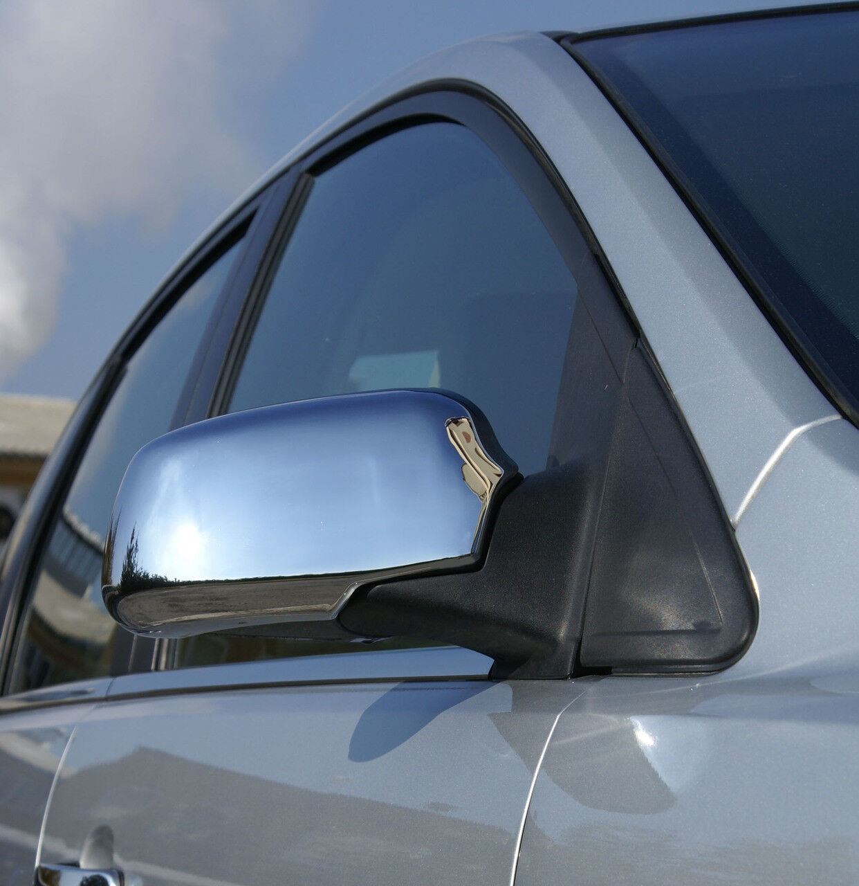 FORD TRANSIT CONNECT 2002-09 CHROME WING MIRROR COVERS TRIM SET OF 2