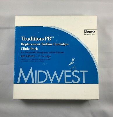 Midwest Dentsply Dental Tradition Push Button Replacement Cartridge 12 Pk