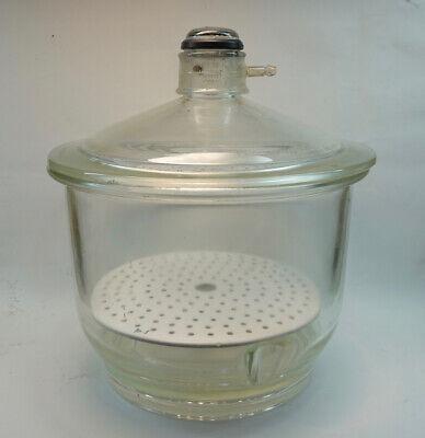 9 Pyrex Vacuum Desiccator Jar With Porcelain Plate