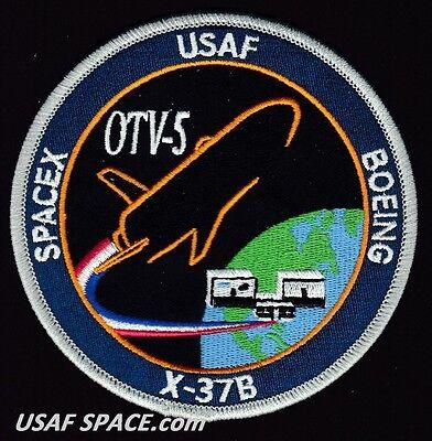X-37B - OTV-5 - SPACEX FALCON 9 - ORIGINAL - USAF DOD SPACE PLANE Launch PATCH