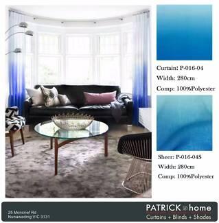 Gradient color Curtain 80% Blackout(P016)