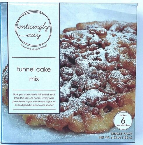 NEW Enticingly Easy FUNNEL Cake Mix (1 Box) Makes 6 Funnel cakes  Sweet Treat