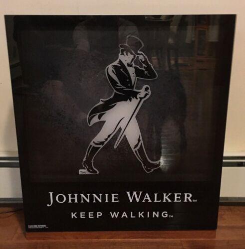 JOHNNIE WALKER LIGHTED BAR SIGN SCOTCH WHISKY SHADOWBOX STYLE