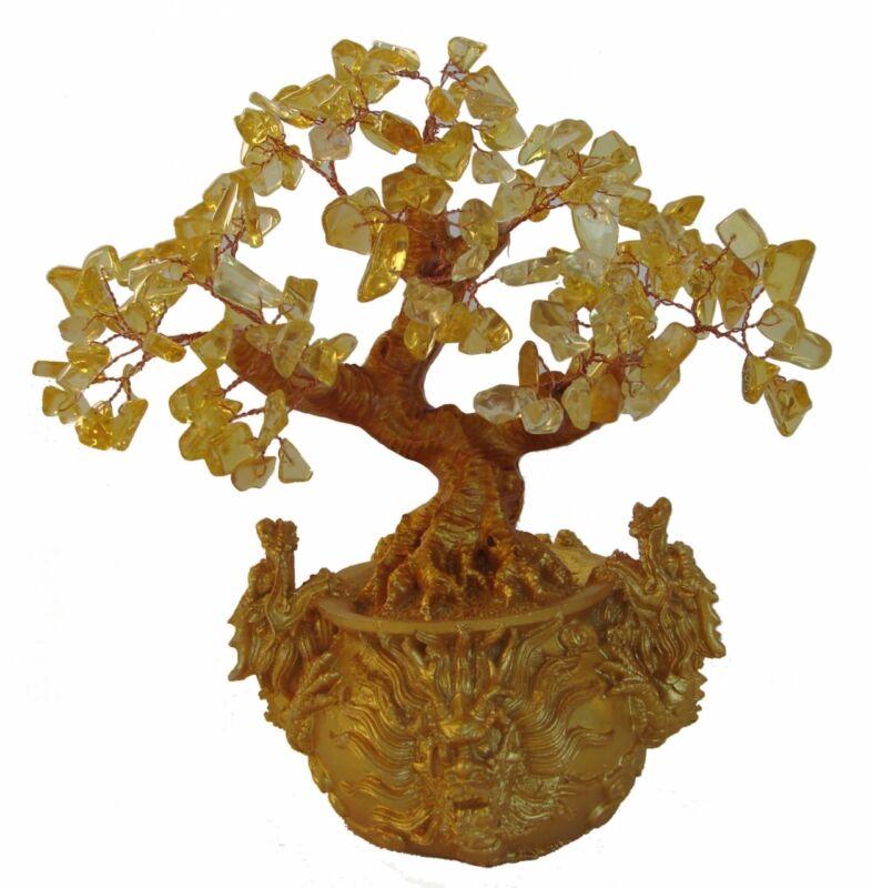 Citrine Tree in Dragon Pot