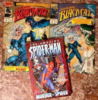 SPIDER-MAN Felicia Hardy BLACK CAT LOT comics MURDER BY SPIDER issues Romita Jr ](Black Cat Felicia)