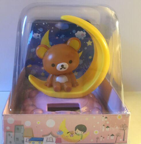 Solar Dancing Bear on moon  Bobble Toy USA Seller!!