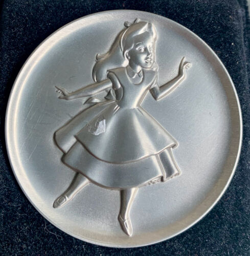 Disney Pewter Coin Alice Limited Edition Numbered by Kirk Magic of Disney