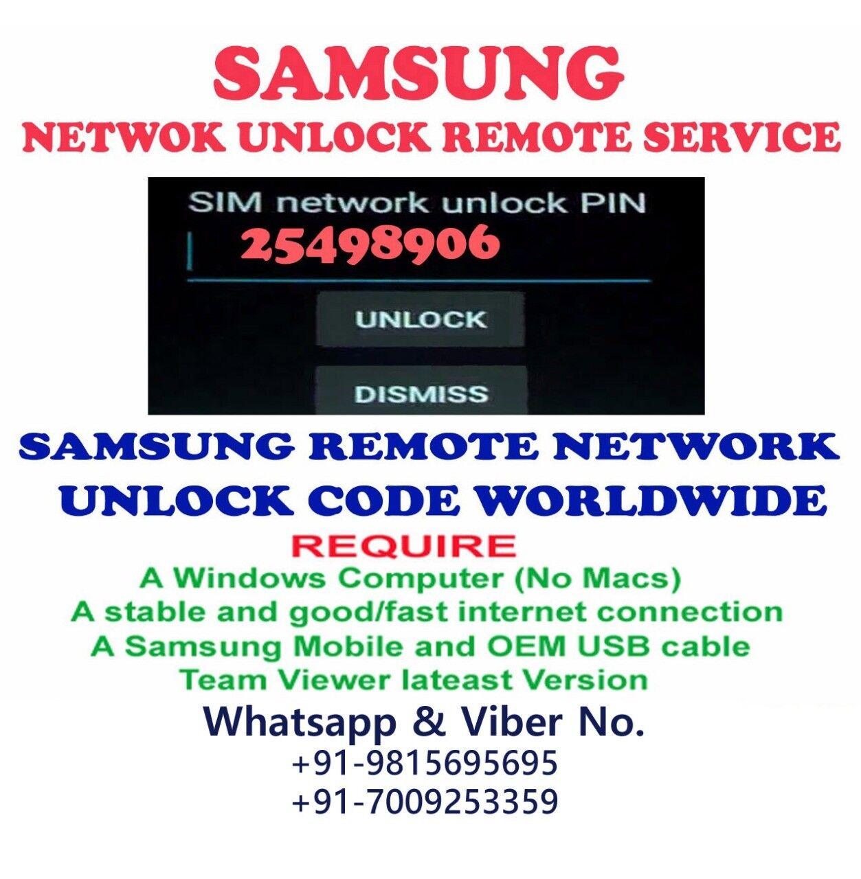 SAMSUNG REMOTE UNLOCK CODE PREMIUM SERVICE Samsung Galaxy J7 Prime SM-G610I