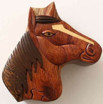 Wooden Puzzle Box- Horse