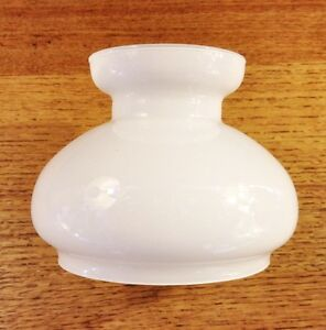 Glass-Cowl-4-inch-oil-lamp-shade-100mm-light-Opal-White-replacement-vintage