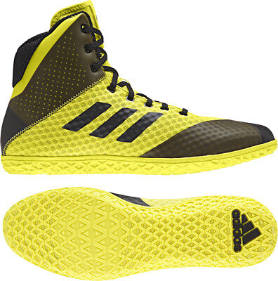 Adidas 2018 Mat Wizard 4 Yellow Black Wrestling Shoes Men's Adult Adidas Shoes