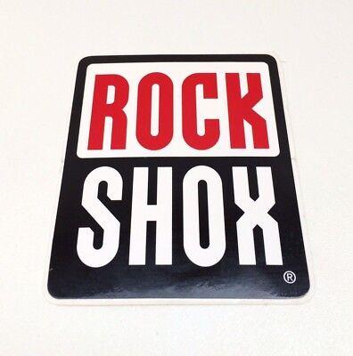 """2x Rock Shox Sram Logo Sticker Decal 3/""""x2.5/"""" RockShox"""