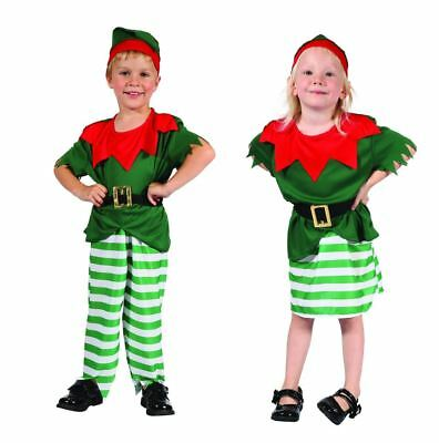 Toddler Elf Costume Santas Helper Boy Girl Outfit Christmas - Costume For Boy Toddler