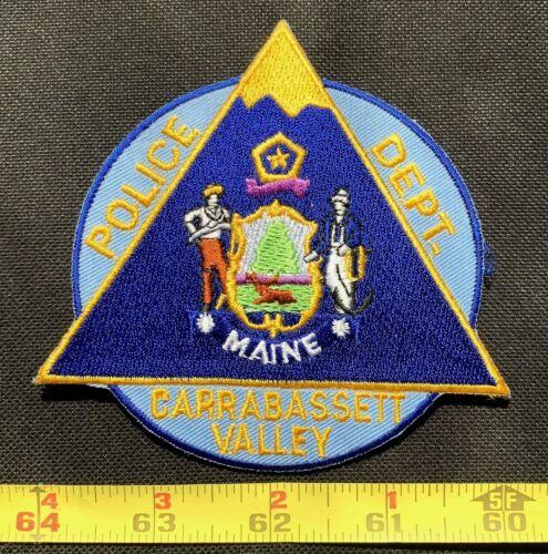 VINTAGE CARRABASSETT VALLEY  POLICE MAINE UNIFORM Collectors Patch