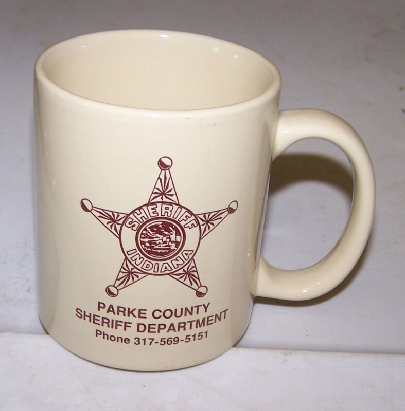 PARKE COUNTY SHERIFF DEPARTMENT Coffee Mug Cup Rockville Indiana
