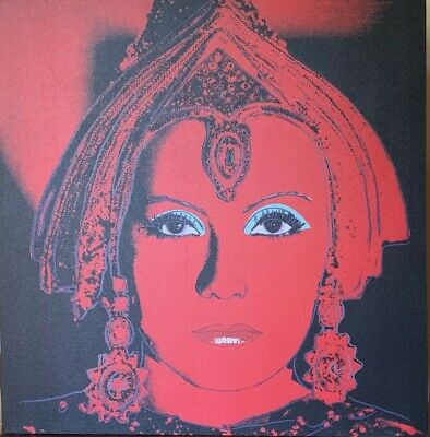 ANDY WARHOL - Offset Lithograph on canvas of 80's - THE STAR