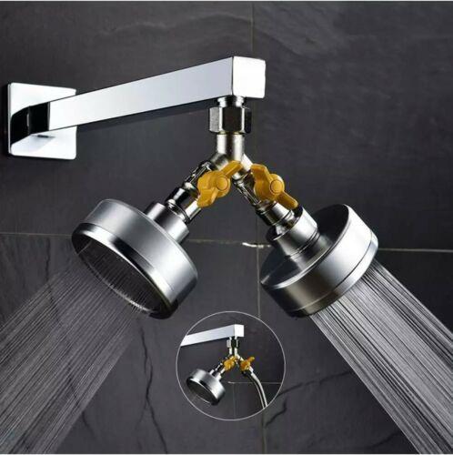 3 Way Shower Splitter Valve Adaptor Diverter Flow Control Hand Shower Component