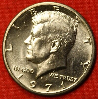1971-D KENNEDY HALF DOLLAR FROM OBW BU  BEAUTIFUL COLLECTOR COIN GIFT KH57