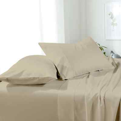 Luxury Best 100% Cotton Sheets Set 450 Thread count Solid Sateen Weave 4-Piece (Best 100 Cotton Sheets)