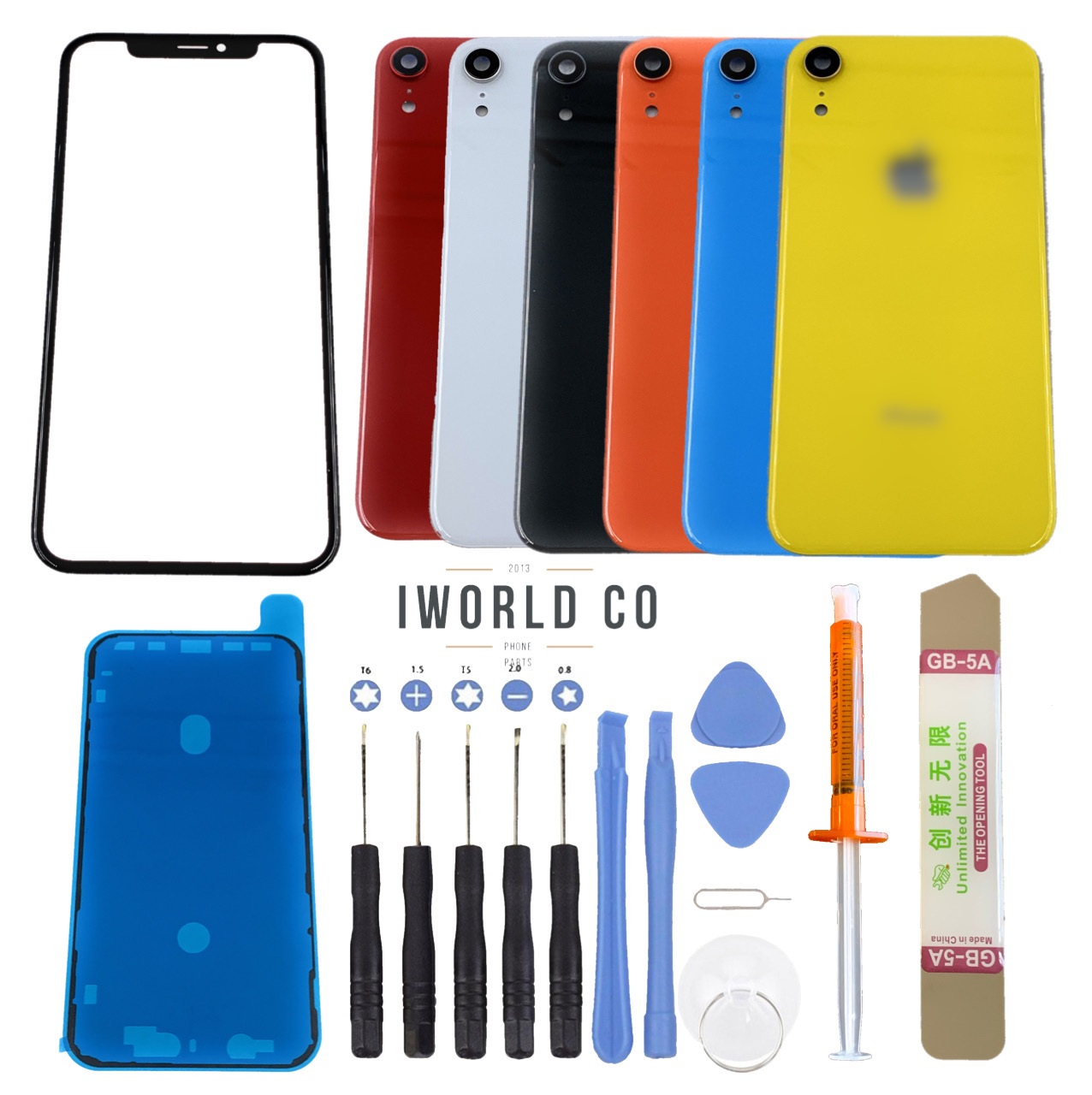 iphone xr front glass screen back cover