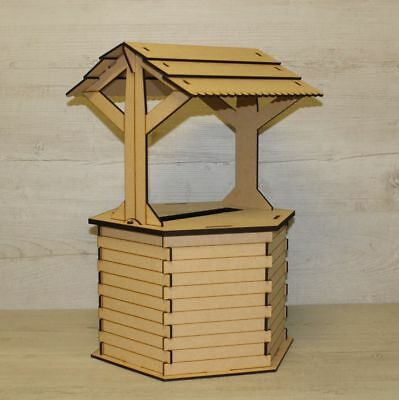 Wedding Card Box POST BOX Wishing Well Mdf Craft Kit Unpainted Parties