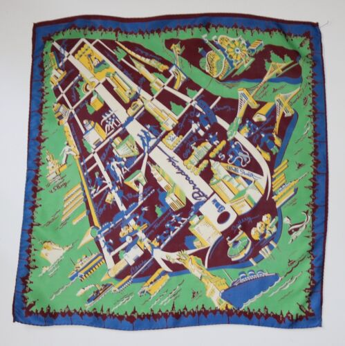 vintage New York City print large scarf