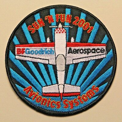 BF Goodrich Aerospace Vintage Embroidered Patch /Sun & Fun 2001 Avionics Systems