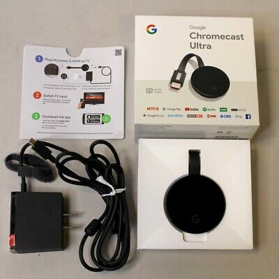 GOOGLE CHROMECAST ULTRA 4K DIGITAL MEDIA STREAMER - BLACK - NC2-6A5-D
