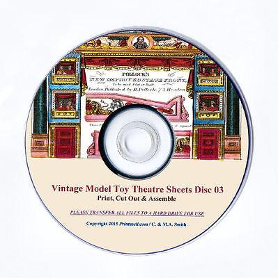 ☆ POLLOCK'S PAPER MODEL TOY THEATRE SHEETS ☆ RESTORED ORIGINALS ☆ Vols1-3 Disc ☆