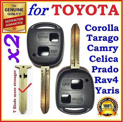 Toyota Remote Key Shell / Case Corolla Yaris Prado RAV4 Echo Blank Two Button 2x