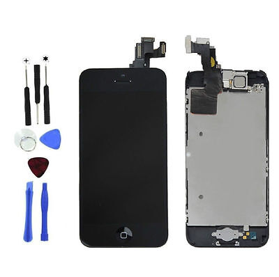 Touch Lcd Screens - New Black LCD Touch Screen Digitizer Assembly Replacement for iPhone 5c Toolkit
