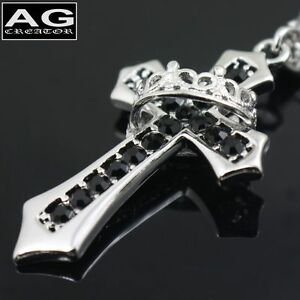 Black-cubic-ring-cross-pendant-with-24-034-chain-necklace