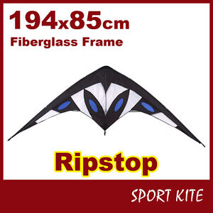 KITE RIPSTOP OUTDOOR SPORT TOY FUN STUNT GIFT IDEA DUAL CONTROL