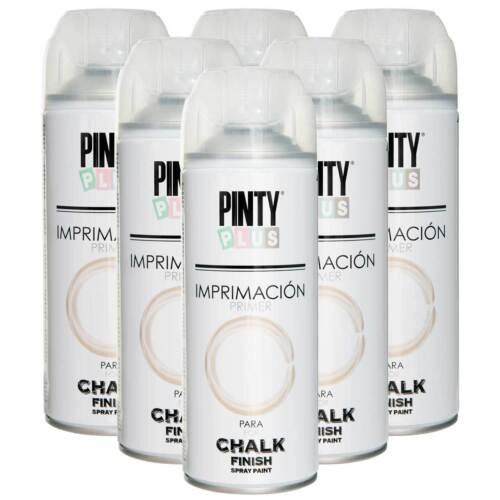 Chalk Finish Spray Primer, PintyPlus, Full Case of 6 Cans