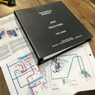 New 4020 John Deere Technical Service Shop Repair Manual Tractor Book Color Page
