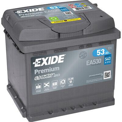 EXIDE EA530 PREMIUM Autobatterie Batterie Starterbatterie 12V 53Ah EN540A