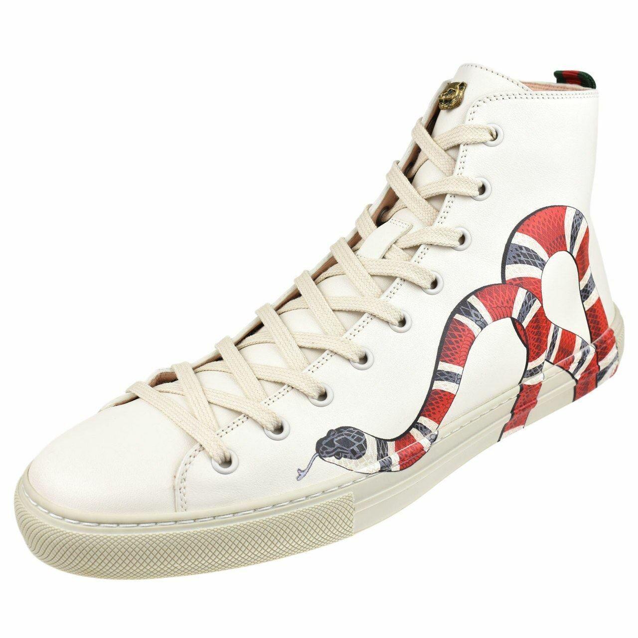 Gucci Mens Shoes Major Snake High Top Sneaker 473739-Ayov0-9050