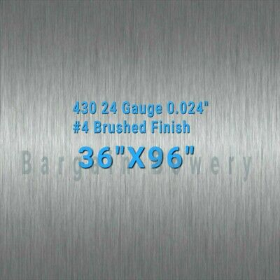 36 X 96 Stainless Steel Sheet Wall Covering 4 Brushed 24 Gauge 0.024