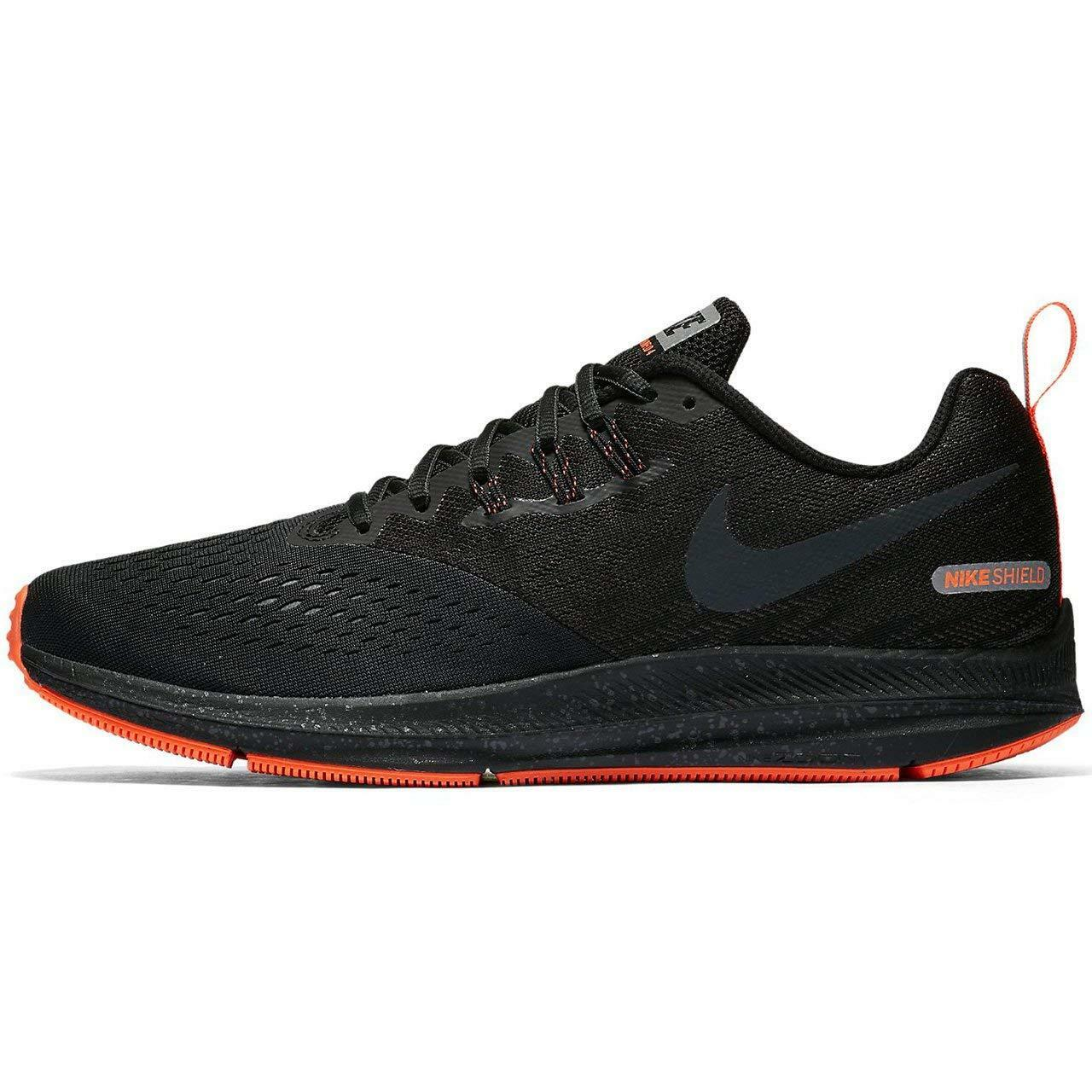 size 40 256ca 73af5 Men's Nike Zoom Winflo 4 Shield Running Shoes, 921704 001 Multi Sizes  Black/Anth