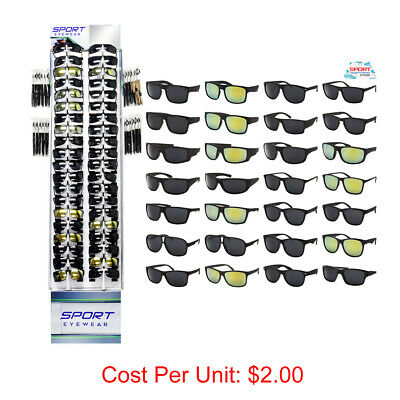 WHOLESALE SUNGLASSES SPORT STYLES 180 PCS WITH DISPLAY BULK LOT SUNGLASS (Wholesale Sunglass Display)