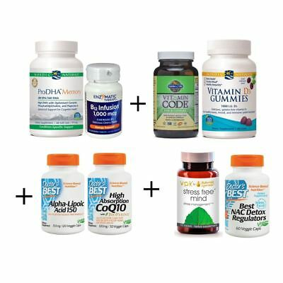 PREMIUM Brain Kit - Best Supplements for Brain Health, Memory, Concentration,