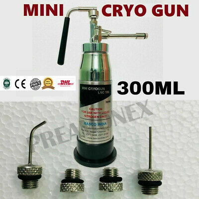 Mini Cryo Gun N2o Cryogun Skin Surgery 300 Ml Cryotherapy Spray With 4 Nozzles